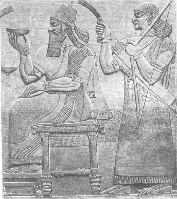 Ашурнасирпал на трона